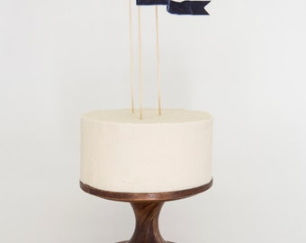 Velvet Ribbon Waving Flag/Pennant Cake Topper