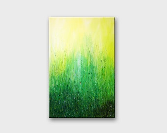 Green Acrylic Abstract art Acrylic paintings original Wall art canvas art Modern art Original painting Abstract wall art Wall decor