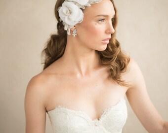 Wedding Belt, Beaded Bridal Sash, Leaf & Vine Crystal Silver Rhinestone Art Deco Wedding Accessories, Rustic, Trim, Camilla Christine, IVY