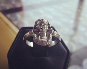 Sterling Silver Egyptian Pharaoh Ring