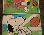 1958 and 1972 Peanuts, Snoopy, Milton Bradley Jigsaw Puzzles
