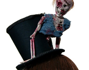 Walking Dead Inspired Crazed Zombie Top Hat
