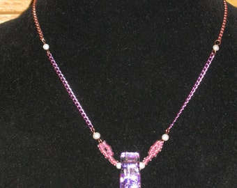Pink Chain Study Necklace
