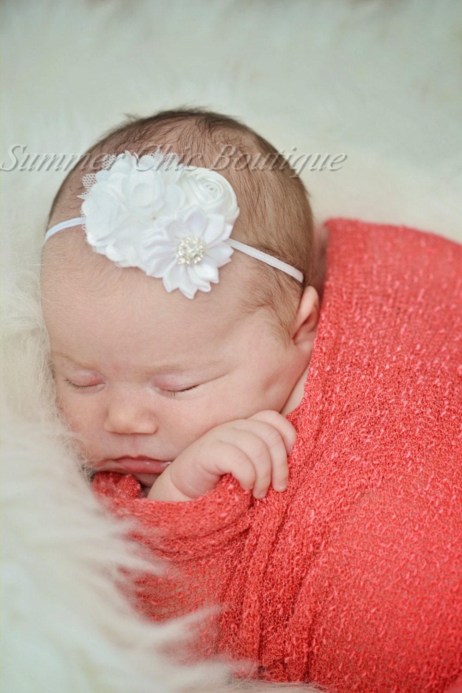 Bandeau Nouveau Né : babyheadband blanc bandeau pour b b nouveau n bandeau ~ Farleysfitness.com Idées de Décoration