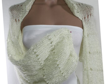 Ivory Bolero Knit Bolero Sparkly Bolero Bridal Bolero Wedding Bolero Handknit Long Sleeve Bolero Evening Bolero Shrugs Boleros Weddings