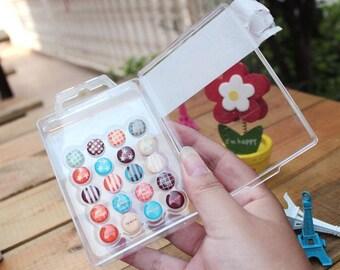 Push Pin Set - Push Pins - Pins - Thumbtack - Drawing Pin - Rural Style