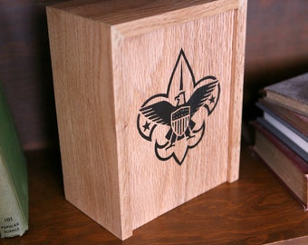 Oak Box with Sliding Lid