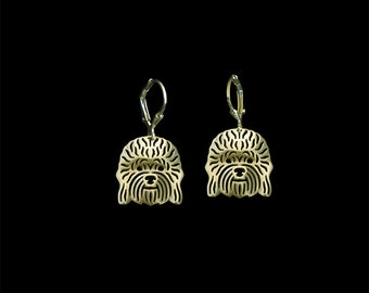 Dandie Dinmont Terrier earrings - Gold