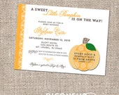 Sweet Little Pumpkin Fall Baby Shower - Scripture Invitation - DIY Printable