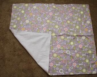 Purple Flower Cuddle Blanket