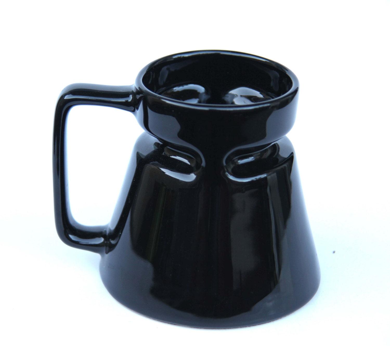 7861b3e3b83 Black Ceramic Travel Mug No Spill Wide Base Narrow Top Ceramic