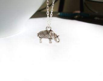 Antique Elephant Necklace