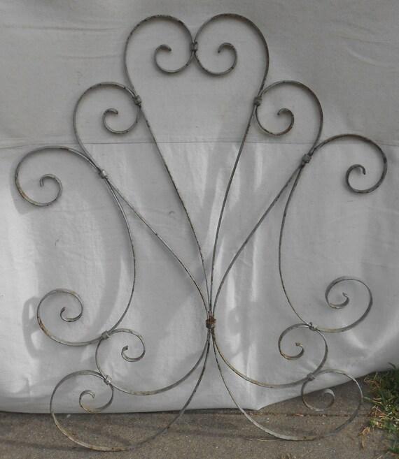 Vintage Wrought Iron Screen Door Protector Decorative Metal