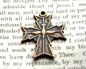 Holy Spirit Cross - Cross - Sterling Silver or Bronze - Vintage Replica - Made in the USA  (CR-877)