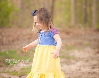 Snow White Inspired Dress- Snow White Dress- Snow White Cotton Dress- Princess Dress- Snow White Costume- Snow White- Cotton Princess Dress