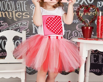 Valentines Day tutu. Pink and red.