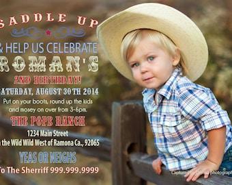 COWBOY PARTY INVITATION photo