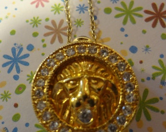 Gold Cat Lion Tiger Necklace 925 Sterling Silver Vermeil Wash Gift Birthday Anniversary Kitty Kitten Cat Lady Yellow Gold Mom Mother In Law