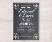 Wedding Rehearsal Dinner invitation custom printable 5x7