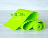 "100% Wool Felt Roll - 5"" x 36""  Felt Roll - Wool Felt Color Neon Green - 1120 - Neon Green  Wool Felt - Bright Green Wool Felt - Wool Roll"