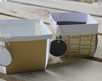 Cardstock Berry Baskets with Tags- Set of 2