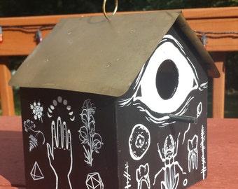 Arcane Birdhouse (hand-painted)