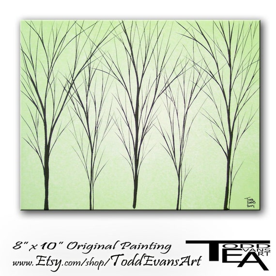 Wall Art Trees Green : Sale wall hangings canvas art original painting