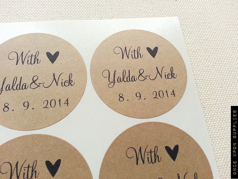 60 custom wedding favor labels stickers seals personalized