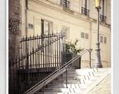 Paris photography - Montmartre steps - Paris photo,Art,Fine art photography,Paris decor,8x10 wall art,white,Fine art prints,Art Posters
