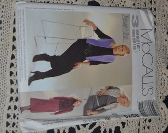 McCalls 3 Hour Dress and Vest  Sewing Pattern - UNCUT - Sizes 8 10 12 14