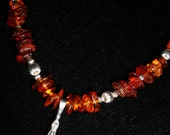 Pewter Mjolnir and Lemon/Cognac Baltic Amber necklace