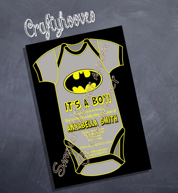 superhero batman baby shower it 39 s a boy party invitations u print