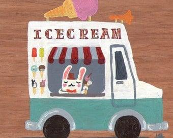 Icecream bunny - Greeting card
