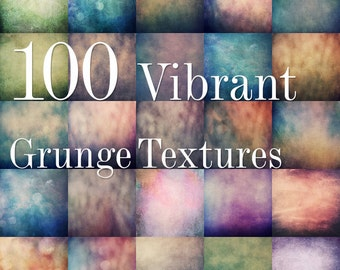 70% OFF! 100 Vibrant Grunge Textures - 5000px