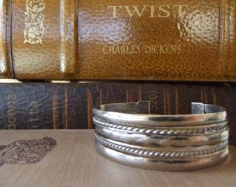Vintage Cuff Style Silver Bracelet