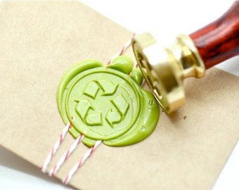 B20 Wax Seal Stamp Recycle Logo