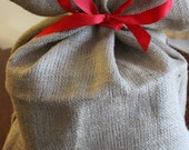 Multi Use Rustic Burlap Sack - Go green Christmas gift wrap
