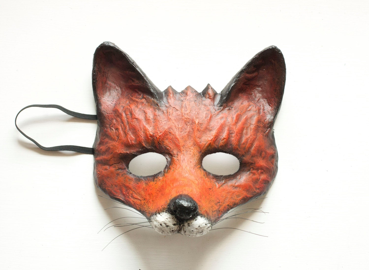 The cunning fox mask made to order fancy dress animal mask - Masque papier mache ...