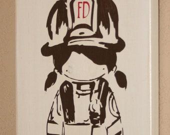 Firefighter Decor, Distressed Wall Decor, Custom Wood Sign, Firefighter Nursery Decor, Firefighter Mom Firefighter Decor - Accent Sign