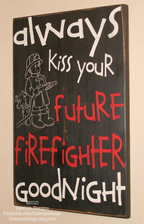 Fireman Home Decor Firefighter Sign Nursery Future