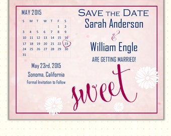 Save the Date Card, announcement, wedding, engagement, calendar, postcard, magnet, bokeh, digital, printable, invite WSD1495