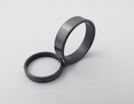 his rings black promise rings by naturesbridalshop