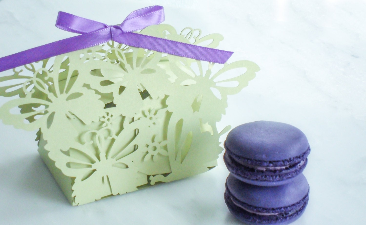 Wedding Favors Macaron Favor Wedding Favor Box Butterfly And