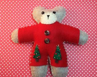 Christmas Bear Doll