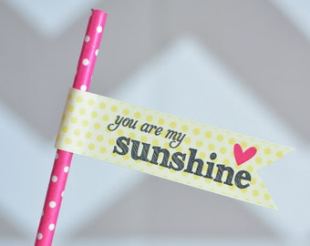 INSTANT DOWNLOAD • You Are My Sunshine Printable Flags