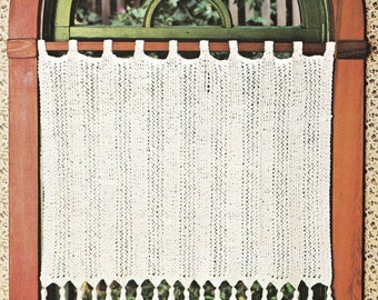 Knitting Pattern - Vintage Tassel Curtains - Window Dressing - Window Covers - PDF Instant Download - Digital Pattern - Window Shade - Vtg