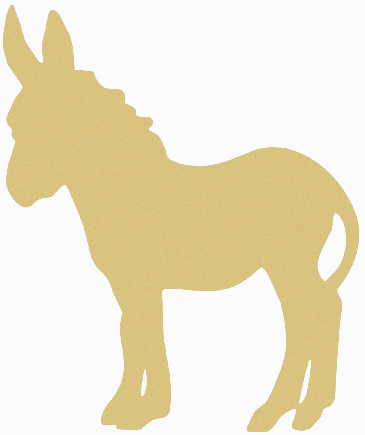 Donkey unfinished wooden craft shape do it yourself for Templates for wood cutouts