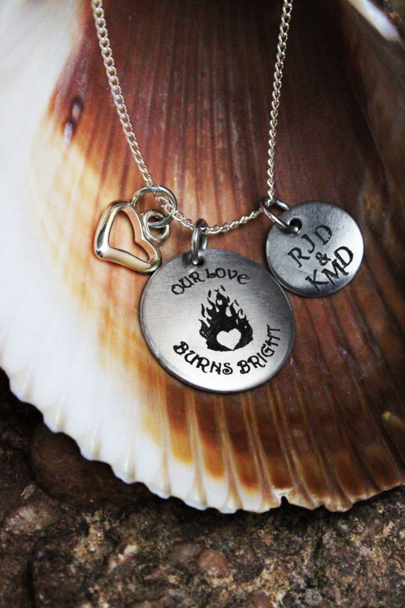 personalized firefighter or necklace