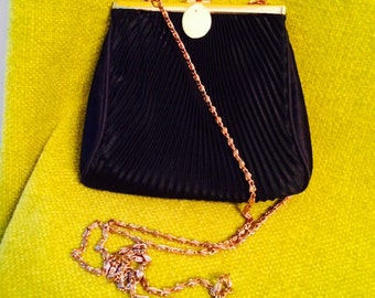 Vintage 50s 60s Off White Corde Bead Handbag