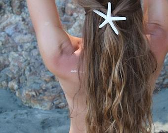 Pencil Starfish Barrette - starfish hairclip, mermaid accessories, beach weddings